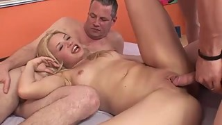Cuckold sucks cock before cleaning up his wife
