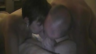 husband and wife both sucking dick of friend