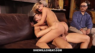SheWillCheat - Cuckold Husband Watches Wifes Pussy Get Destroyed