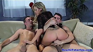Busty MILF girlfriend blonde rammed hard