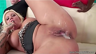 Crazy Tits MILF Brunette Swinger