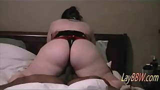 BBW slut riding black cock to orgasm