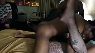 We GANGBANGED his HOTWIFE and made her CUM HARD in front of Him!