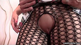 Cheating blonde wife enjoys riding another cock