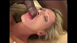 BLONDE WIFE DRINKS BBC CUM