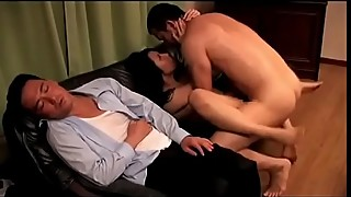 Japanese housewife cuckold in front of drunk husband  (Full: shortina.com/9dNO)