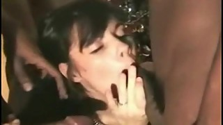 Gangbang french wife interracial