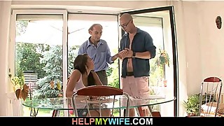 Old hubby got cuckolded by his trophy wife