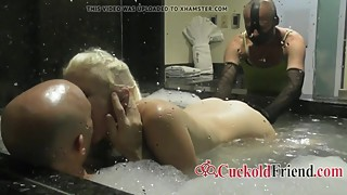 Husband Watch Mature Wife Cuckold in Jacuzzi