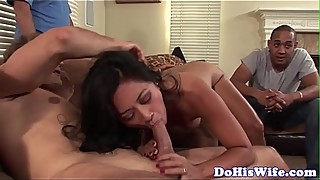 Cuckolding housewife pounded by big cock