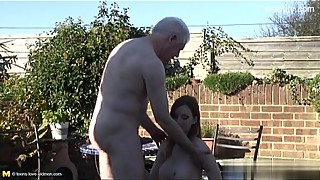 Sexy housewife   cum on hairy pussy