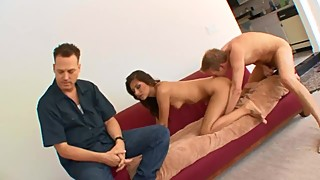 Wife fucked by one stranger and husband watches