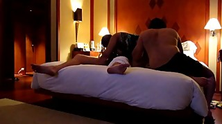 Indian wife threesome fuck in hotel room 2