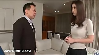 Japanese wife fucking many guys to repay husband loans