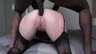 My wife's first nigga cock assfucking and love it.