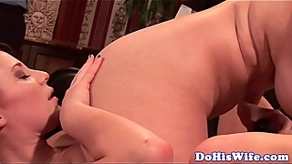 Busty housewife hungry for some lesbian sex