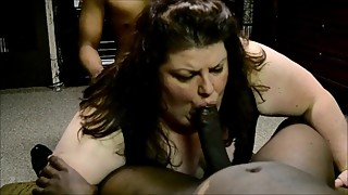 Kristy Alley BBW Hotwife Slut taking on a few BBCs she just met at Wal Mart