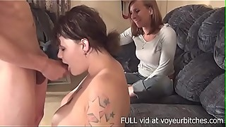 wife watches her friend sucking husband'_s cock
