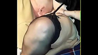 BBW wife fucks older man at his cabin. hubby videos.