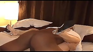 SLUT WHORE WIFE IN HEELS PROPERLY PIERCED BY A SUPERIOR BIG BLACK COCK
