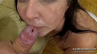 Fucking whore wife several cocks and piss