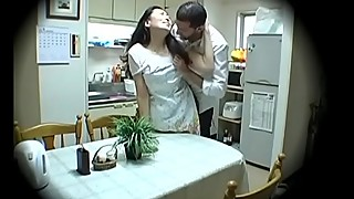 Subtitled Japanese homestay gone wrong host mom blowjob