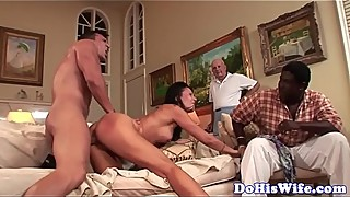 Cuckolding milf gets doggystyled by hard dick