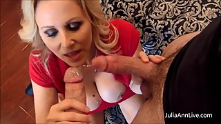 Busty Hot Wife Julia Ann Fucks Her Cousin While Husband Watches! Taboo Sex!