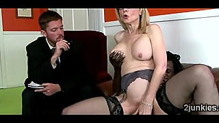 Slutty MILF gets her pink pussy split in front of her pervertckold-9761 02 big-4